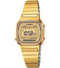 la-670wga-9df reloj digital dorado retro dama