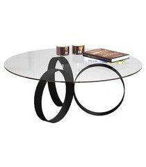 mesa de centro redonda nadine preta