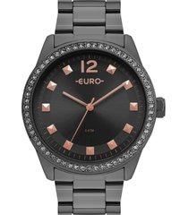 relógio euro construções grafite eu2035yrn/4c