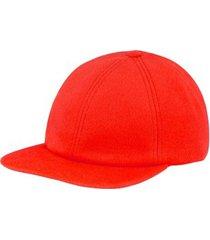 czapka red baseball cap cashmere