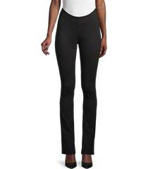 danielle bernstein women's scoop-waist pants - black - size 2
