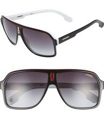 men's carrera eyewear 1001/s 62mm sunglasses - black white
