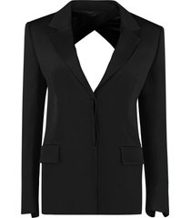 kirin single-breasted viscose blazer