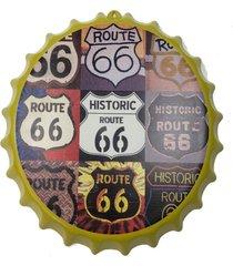placa tampa cerveja decorativa churrasqueira coffe 40x40x5cm - vermelho - dafiti