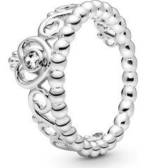 anel de prata tiara de princesa