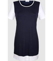 viskostopp dress in marinblå