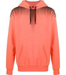 marcelo burlon county of milan fall wings hoodie - orange