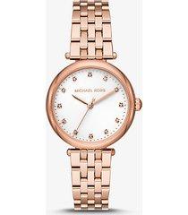 mk orologio darci in tonalità oro rosa con diamanti - oro rosa (oro rosa) - michael kors