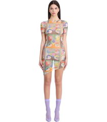 gcds dress in multicolor polyester