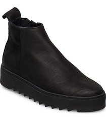loui n shoes boots ankle boots ankle boots flat heel svart shoe the bear
