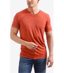 lucky brand men's burnout v-neck t-shirt