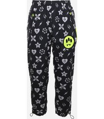 barrow nylon trousers with all-over graphic print