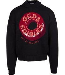 gcds man black sweater with red candy logo