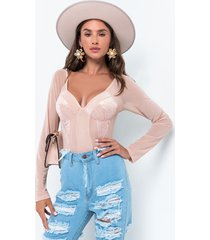 akira hold your attention long sleeve lace bodysuit
