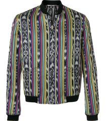ikat teddy reversible jacket multicolor