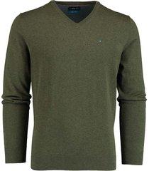 bos bright blue vince v-neck pullover flat kn 20305vi01bo/368 olive