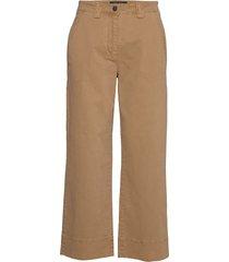 pants, wide leg, high rise, cropped vida byxor brun marc o'polo