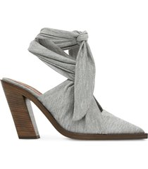 burberry ankle tie mules - grey