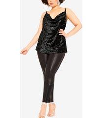 city chic women's trendy plus size velvet-textured cami