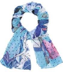 pañuelo flores y rayas multicolor desigual