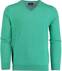 bos bright blue pullover turqouise v-hals 20105vi01bo/361 sea green