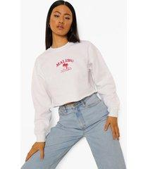 korte geborduurde malibu sweater