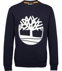 core logo crew bb sweat-shirt tröja blå timberland