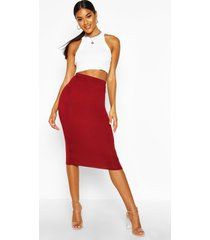 basic jersey midi rok, berry