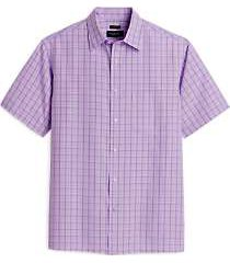 pronto uomo lavender plaid classic fit sport shirt