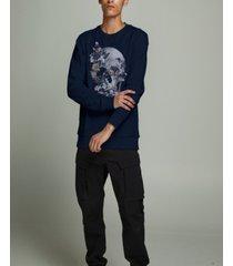 jack & jones men's trac skull crewneck sweatshirt