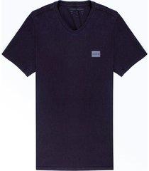 camiseta calvin klein gola v azul marinho