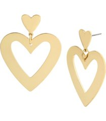 jessica simpson heart dangle earrings