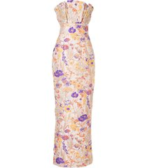 bambah florence pencil gown - multicolour