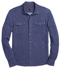 reserve collection tailored fit pima cotton & modal knit jacket - big & tall