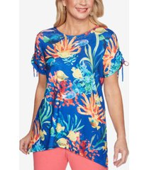 alfred dunner petite island hopping fish scenic top