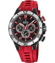 reloj festina modelo f20450/3 rojo hombre