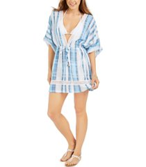 dotti mykonos cotton striped kimono cover-up women's swimsuit