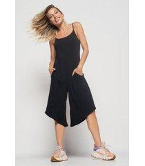 macacão salvatore fashion pantacourt feminino - feminino