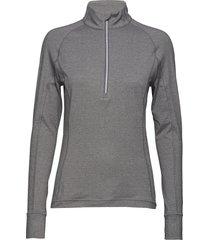 w rotation 1/4 zip t-shirts & tops long-sleeved grijs puma golf
