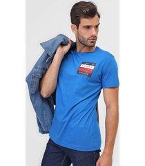 camiseta tommy hilfiger logo azul