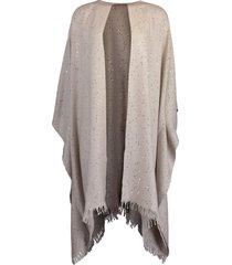 stone cashmere silk paillette shawl