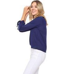 blusa azul donadonna