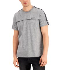 dkny men's premium textured logo taped t-shirt, created for macy's