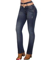 jeans clásico levanta cola belén azul oscuro tyt jeans