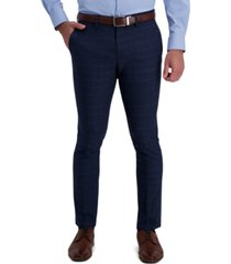 kenneth cole reaction men's skinny-fit windowpane dress pants