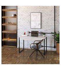 mesa de escritório kuadra 2 gv bege 120 cm