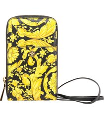 versace baroque pattern lanyard pouch