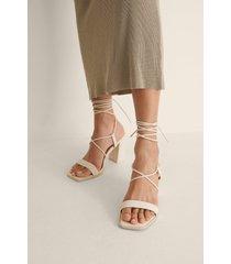 na-kd shoes sandal med blockklack - offwhite