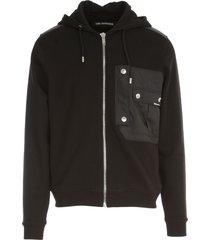 les hommes regular hoodies sweatshirt w/nylon pocket