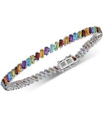 multi-stone bracelet (9 ct. t.w.) in sterling silver